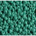 Бисер непрозрачный глянцевый 10/0 Preciosa 63130 - Бирюзово-зелёный