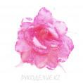 Брошь Цветок роза с резинкой d=190мм 5 - Розовый