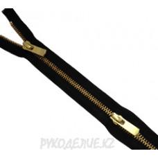 Молния металл N5 двухзамковая (100см, Золотой матовый) YKK