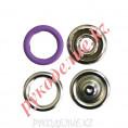 Кнопка установочная рубашечная металлическая (d-9мм, Сиреневый) 9мм, 167 - Сиреневый