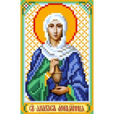 Рисунок на шелке Святая Анастасия 22*25см Матрёнин Посад