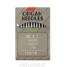 Иглы для промышленных швейных машин 97кл DB-1 N110 Organ needles