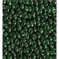 Бисер жемчужный прозрачный 10/0 Preciosa 56060 - Зелёный