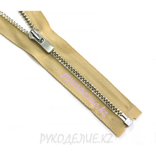 1-зам Молния металл №3 YKK разъемная, никель глянец, 70 см