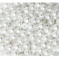 Бусины жемчуг пластиковые 6мм (10гр) 03 - Белый