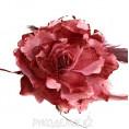 Брошь Цветок пион d-120мм 23 - Свекольный