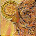 Готовая вышитая картина Солнцелев 20*20см АбрисАрт 1 - Цветной