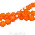 Бусины стекло граненое 4мм 75, оранж