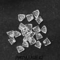 Бусины стекло граненое Ломаная 6мм 79 - Кристалл