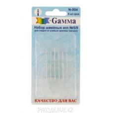 Иглы для шитья ручные для слабовидящих(6штук) N5/9 N-004 Гамма