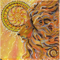 Готовая вышитая картина Солнцелев 20*20см АбрисАрт