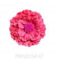 Брошь Цветок пион d=120мм 49 - Тёмно-розовый