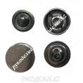 Кнопка установочная металлическая нержавейка 12,5мм, 03 - Темный никель