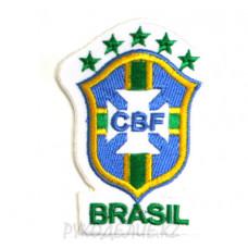 "Шеврон клеевой ""CBF Brasil"" 5*7,2см"