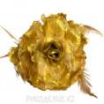 Брошь Цветок пион d-120мм 5 - Светло-золотой