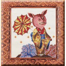 Набор для вышивания Хрюни-сан 20*23см Золотое Руно