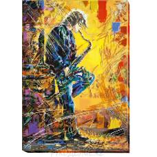 Готовая вышитая картина Саксофонист 31*44см АбрисАрт