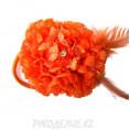 Брошь Цветок Гвоздика d-90мм 23 - Оранжевый