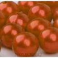 Бусины жемчуг пластиковые 12мм 73 - Тёмно-оранжевый