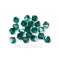 Бусины биконусы стекло 5328 6-d Swarovski 205 - Emerald