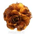 Брошь Цветы роза d-110мм (кор) 1 - Коричневый