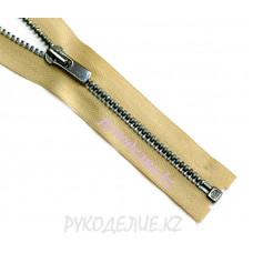 Молния металл разъемная №3 (60см, Темный никель глянец) YKK