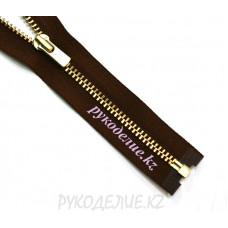 1-замковая Молния металл №3 YKK  разъемная, золото матовое, 60 см