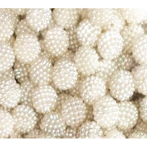 Бусины жемчуг шишечка пластик (10шт)