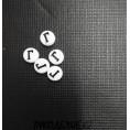 Бусины Алфавит белые 7*7мм Г