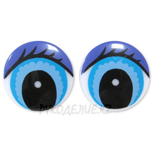 Глаз винтовой круглый с ресницами (1шт)