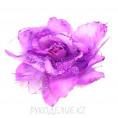 Брошь Цветок роза с резинкой d=190мм 12 - Сиреневый