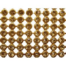Полотно из страз на клеевой основе металл YG0321# ss20(6мм) (1ряд)