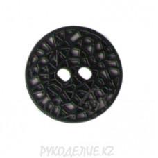 Пуговица металлическая ME 519 (32L, Черный)