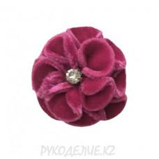Цветок пришивной бархатный d-57мм