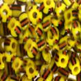 Бисер непрозрачный глянцевый 6/0 Preciosa 83000-1 - Жёлто-красно-чёрный