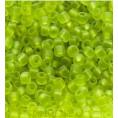 Бисер матовый прозрачный 10/0 Preciosa 50220 - Салатовый