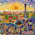 Готовая вышитая картина Парк Гуэль 31*31см АбрисАрт 1 - Цветной