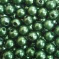 Бусины жемчуг пластиковые 6мм (10гр) 54 - Темно-зеленый