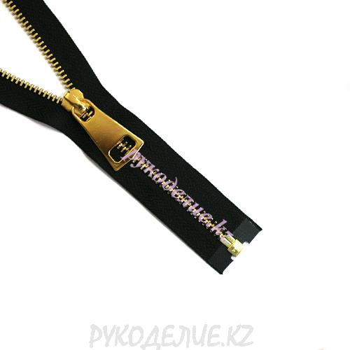 1-замковая Молния металл декоративная №5 YKK золото 60см