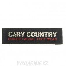 Лейбл пришивной Cary country 4,5*1,2см