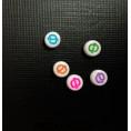Бусины Алфавит цветные 7*7мм Ф