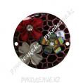 Декоративная деталь пришивной круг 25мм 68 - Свекольный