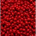 Бисер непрозрачный глянцевый 10/0 Preciosa 93190 - Красный