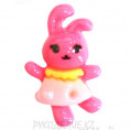 Клеевая фигурка зайчик 16 - Розовый