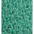 Бисер жемчужный отверстие окрашенное 10/0 Preciosa 37358 - Бирюзово-зелёный