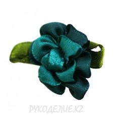 Цветок пришивной атлас меланж d-25мм