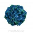 Брошь Цветок пион d=120мм 61 - Тёмно-бирюзовый