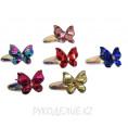 Детская заколка с пайетками (1штука) 7 - Бабочка прямоугольные пайетки