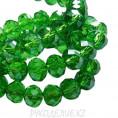 Бусины стекло граненое 8мм 37 - Ярко-зелёный