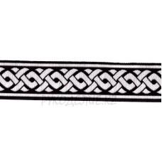 Тесьма орнамент (1 - Чёрный-серебро)